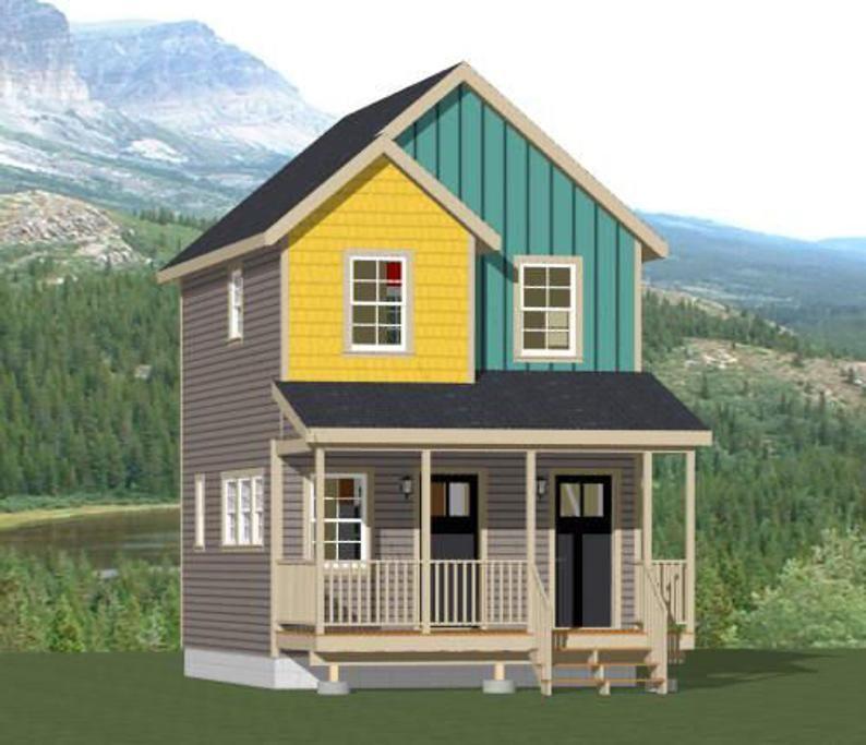 16x20 Duplex 574 sq ft PDF Floor Plan Instant Etsy in