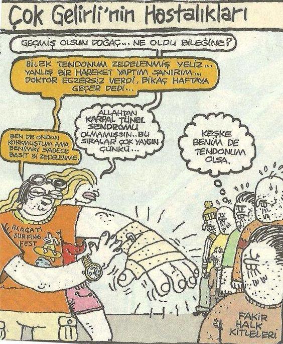 Cok Gelirlinin Hastaliklari Karikatur Komik Mizah