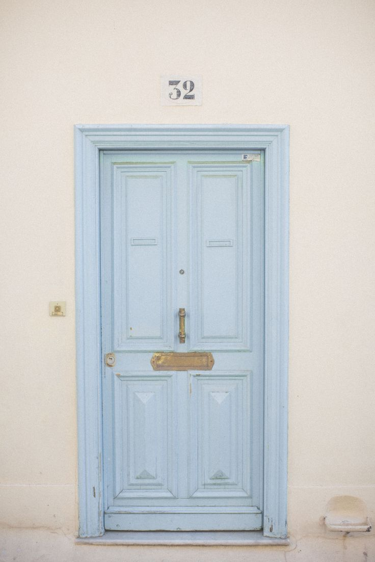 A pale blue door in Nice, France. #blue
