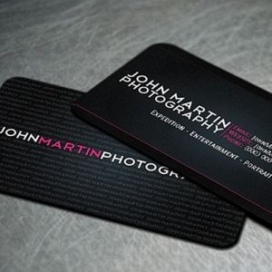Fashion Photographer Business Card Idea