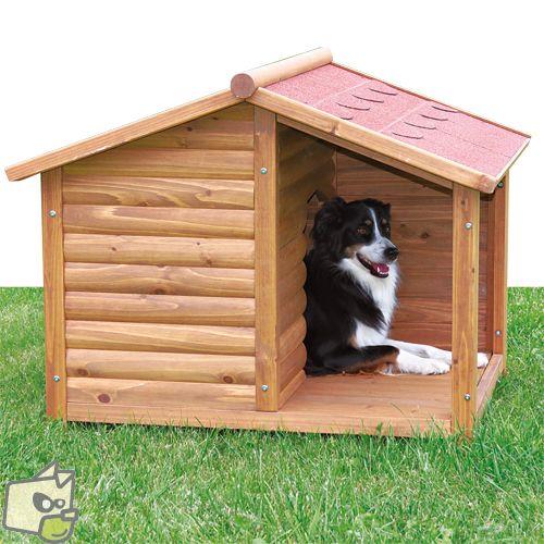 Niche bois avec auvent et terrasse pour abriter un chat Niche