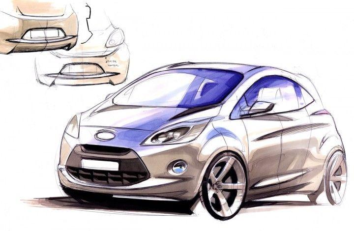 Ford Ka Design Sketch With Images Automotive Illustration