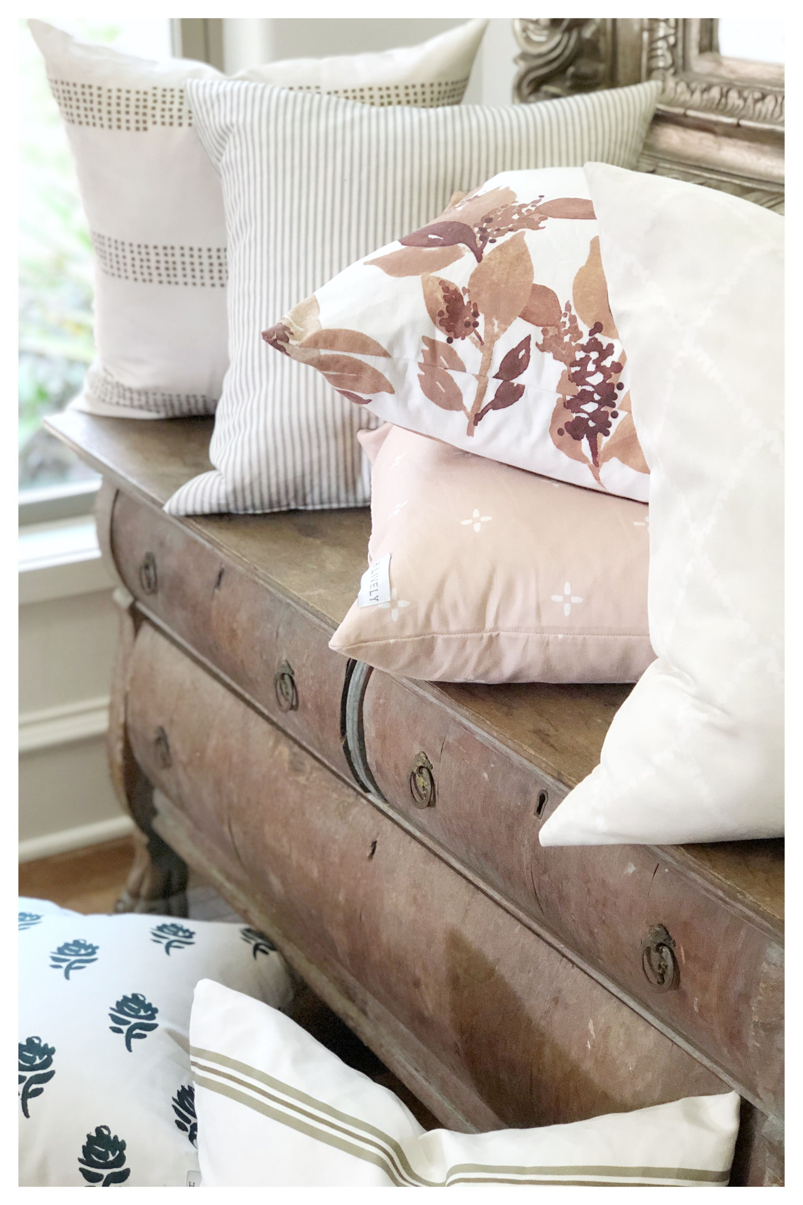H. Lively features artisan designed, handmade decor pillows for your home. Each design is hand drawn and custom made for you. Original, livable art for your sacred place, your home. Click through to see the entire collection. #hlivelytextiles #homedecor #housetohome #decorpillows