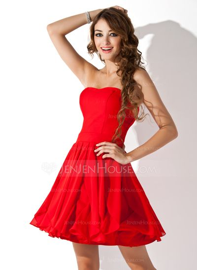 Robe bustier rouge soiree