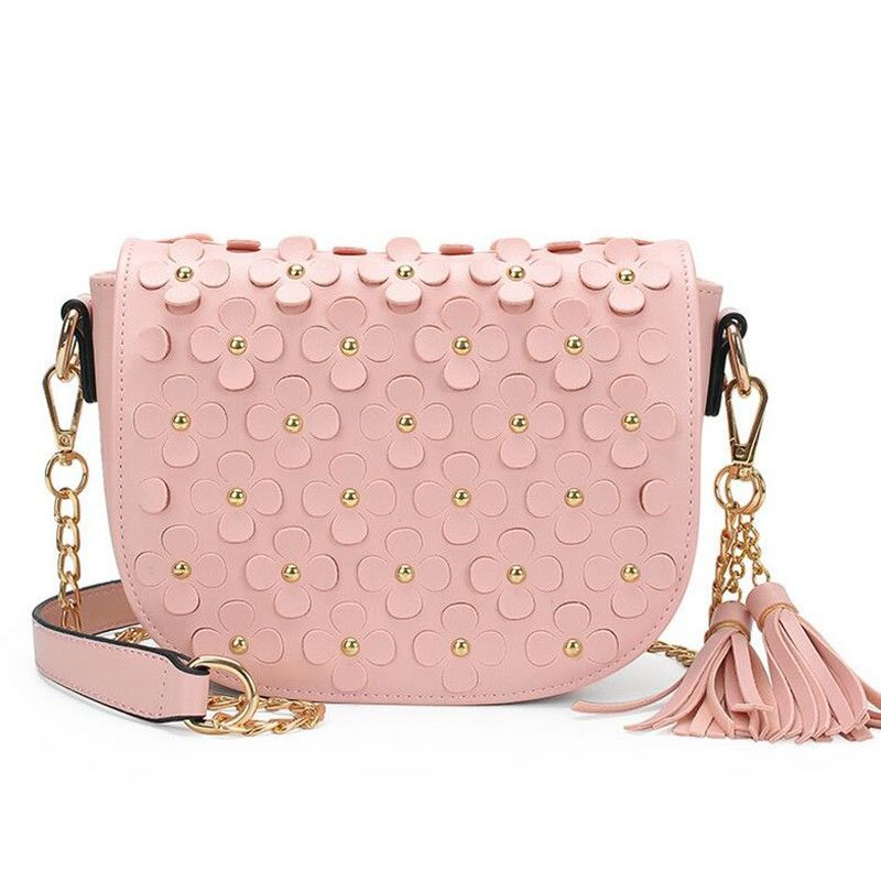 2598d56e8cc3 BARHEE Brand Fashion Handbag 3D Flower Women Shoulder Bag Chain Strap Summer  Crossbody Bags for Girl