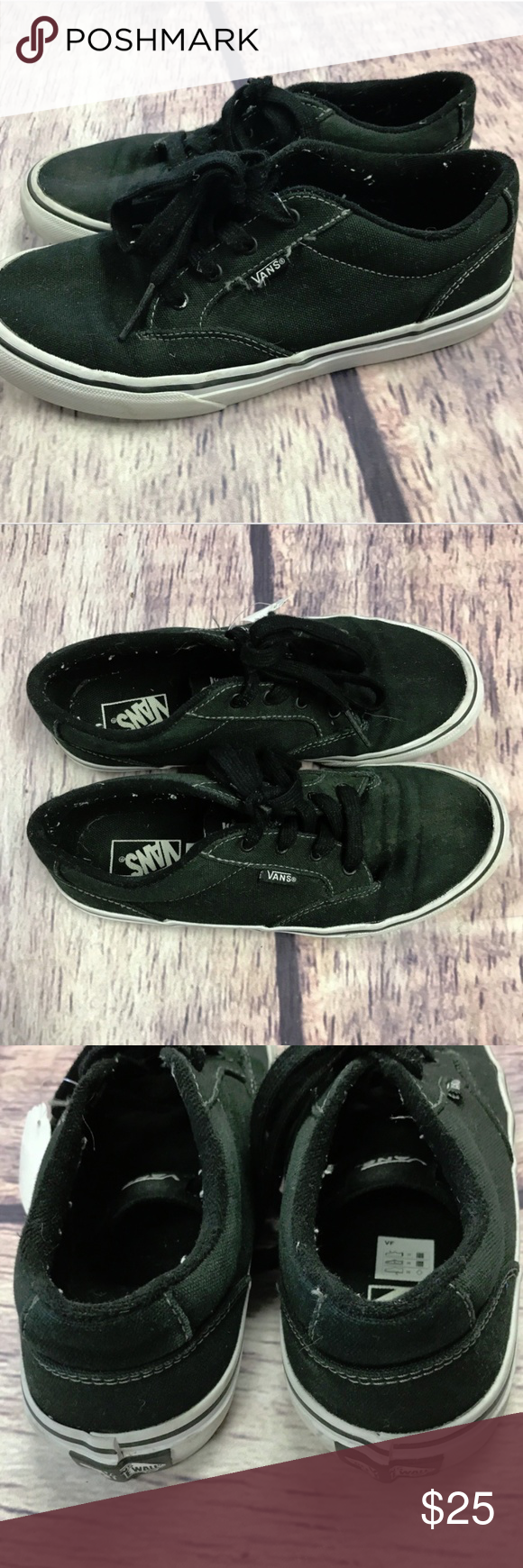 6ab3f337dd vans off the wall kids youth size 4 black sneakers vans off the wall kids  youth size 4 black sneakers shoes great preowned condition normal marks from  ...