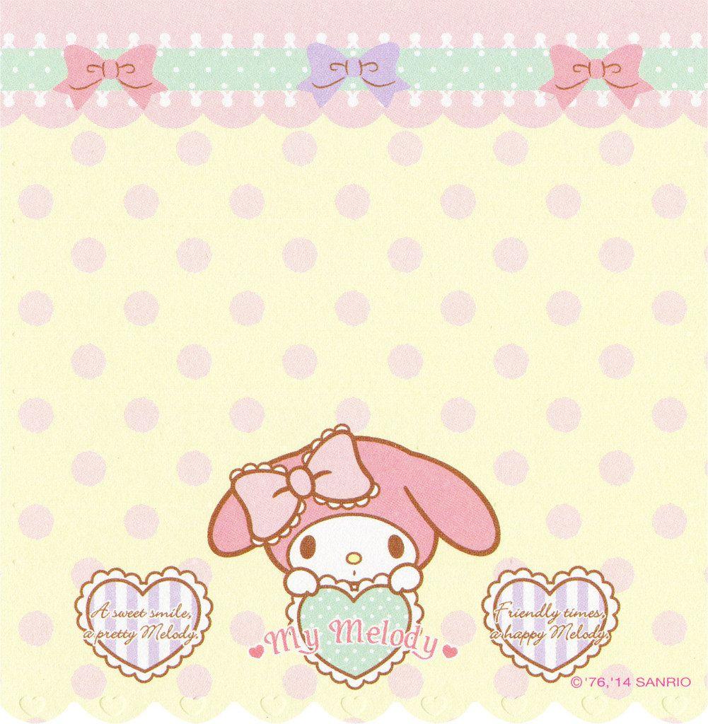 Sanrio My Melody 5 Design Memo Hello Kitty My Melody My Melody Wallpaper My Melody