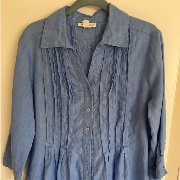 Coldwater creek 100% linen top 100% linen top. Worn maybe twice. Coldwater Creek Tops Blouses
