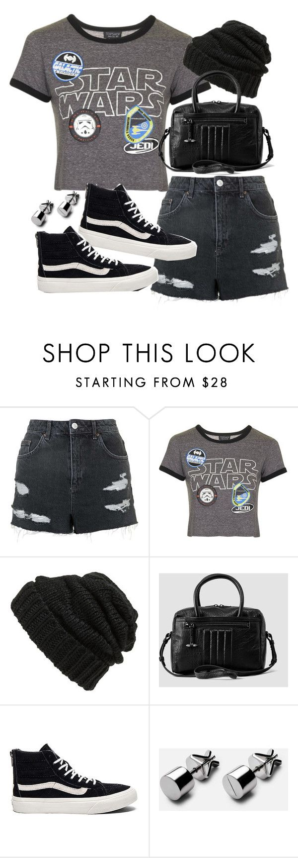 """""""Outfit for autumn with a Star Wars shirt"""" by ferned ❤ liked on Polyvore featuring Topshop, Leith, AllSaints and Vans"""