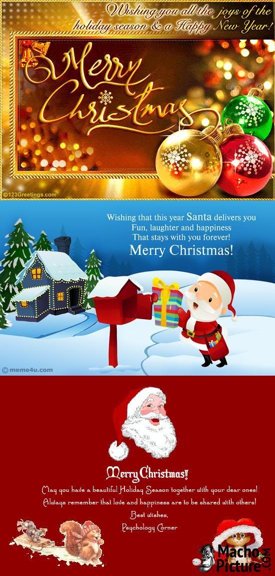 Merry christmas e cards - 4 PHOTO!