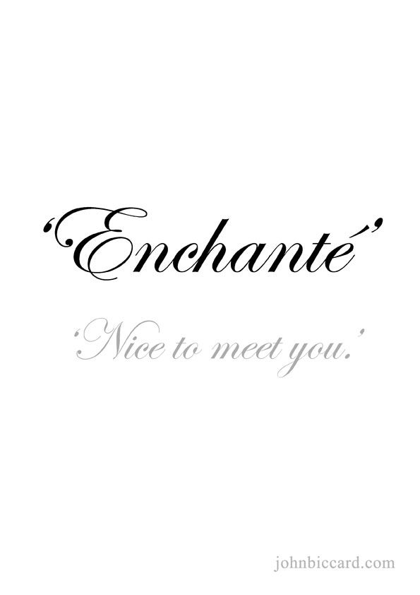 Nice To Meet You Words Of Wisdom Pinterest French Quotes