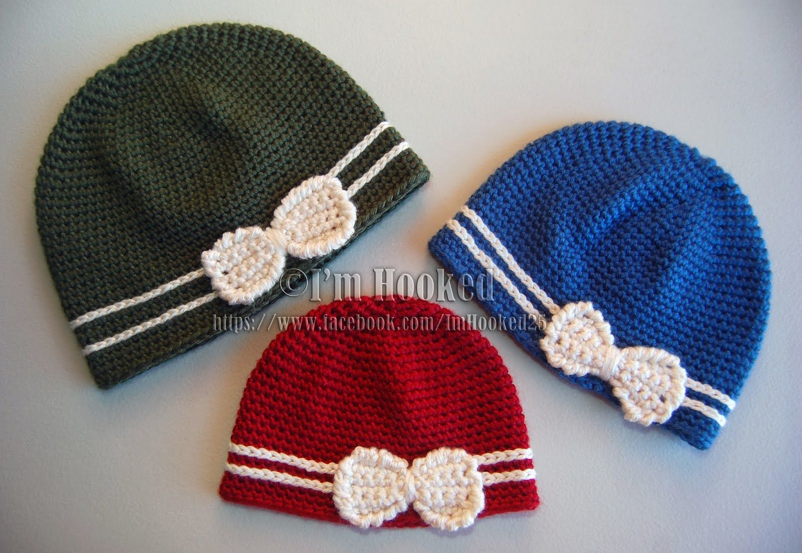 Crochet Beanie with Bow - Free Pattern in ALL Sizes!   KNITTING ...