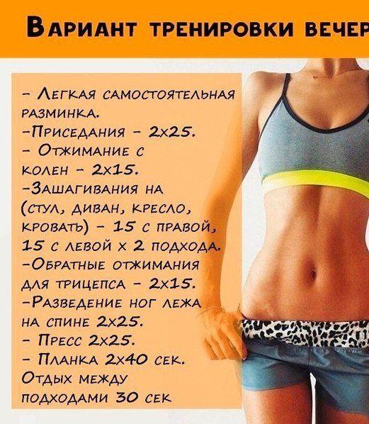 Интенсивное похудение за месяц упражнения