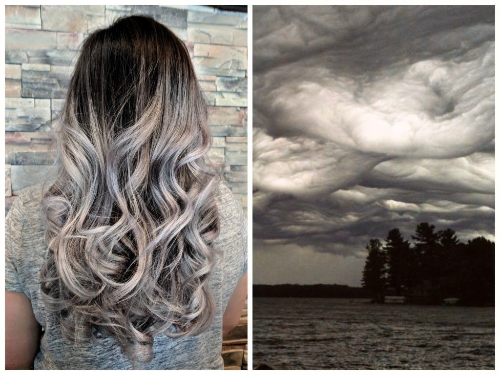 Cloud 9 Hair Styles: Storm Cloud Hair Color. Foiled Balayage To Level 9. Wash