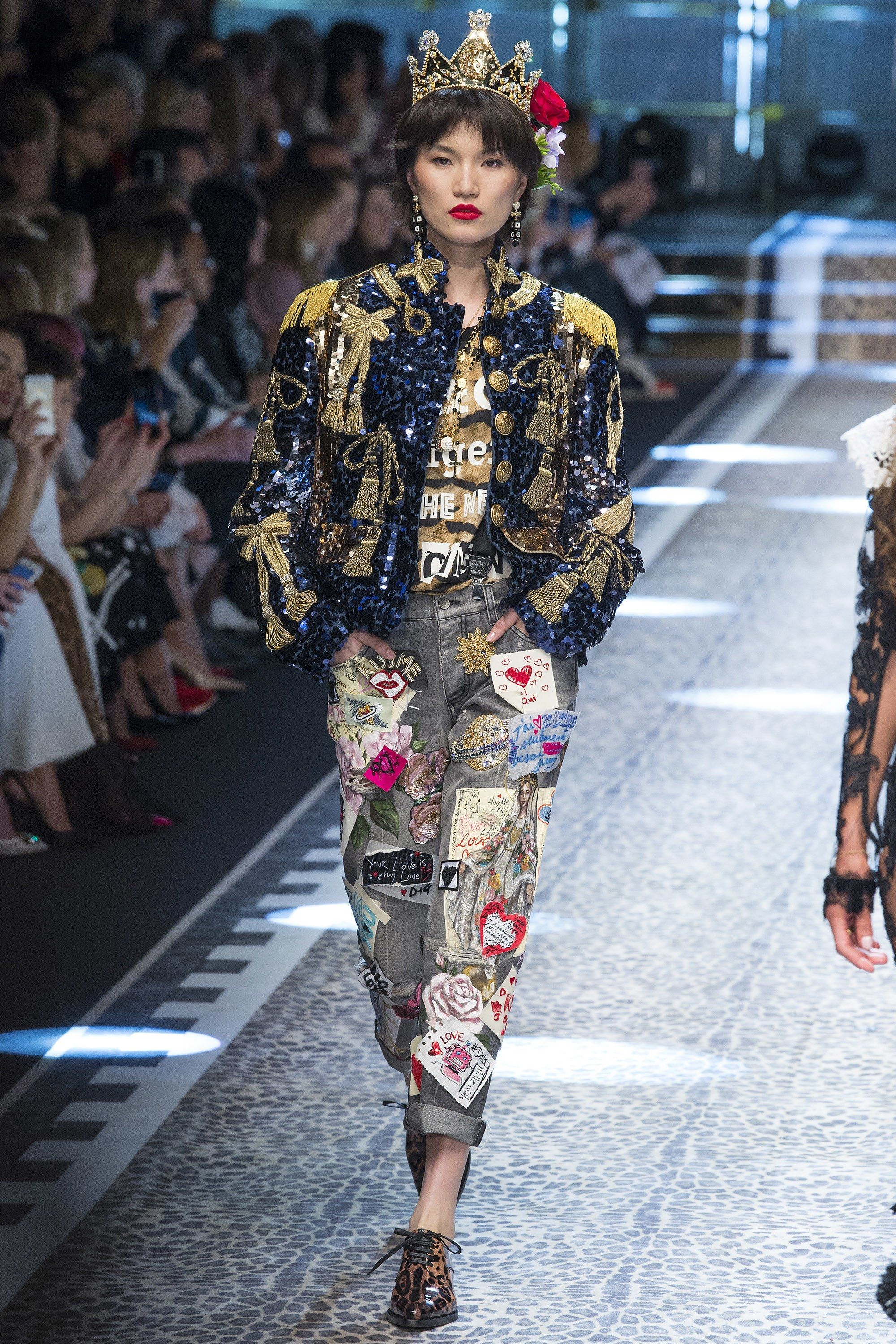 5ca4bc775308 Runway  fashion review  MFW Fall17  Dolce   Gabbana s everyone collection  is everything