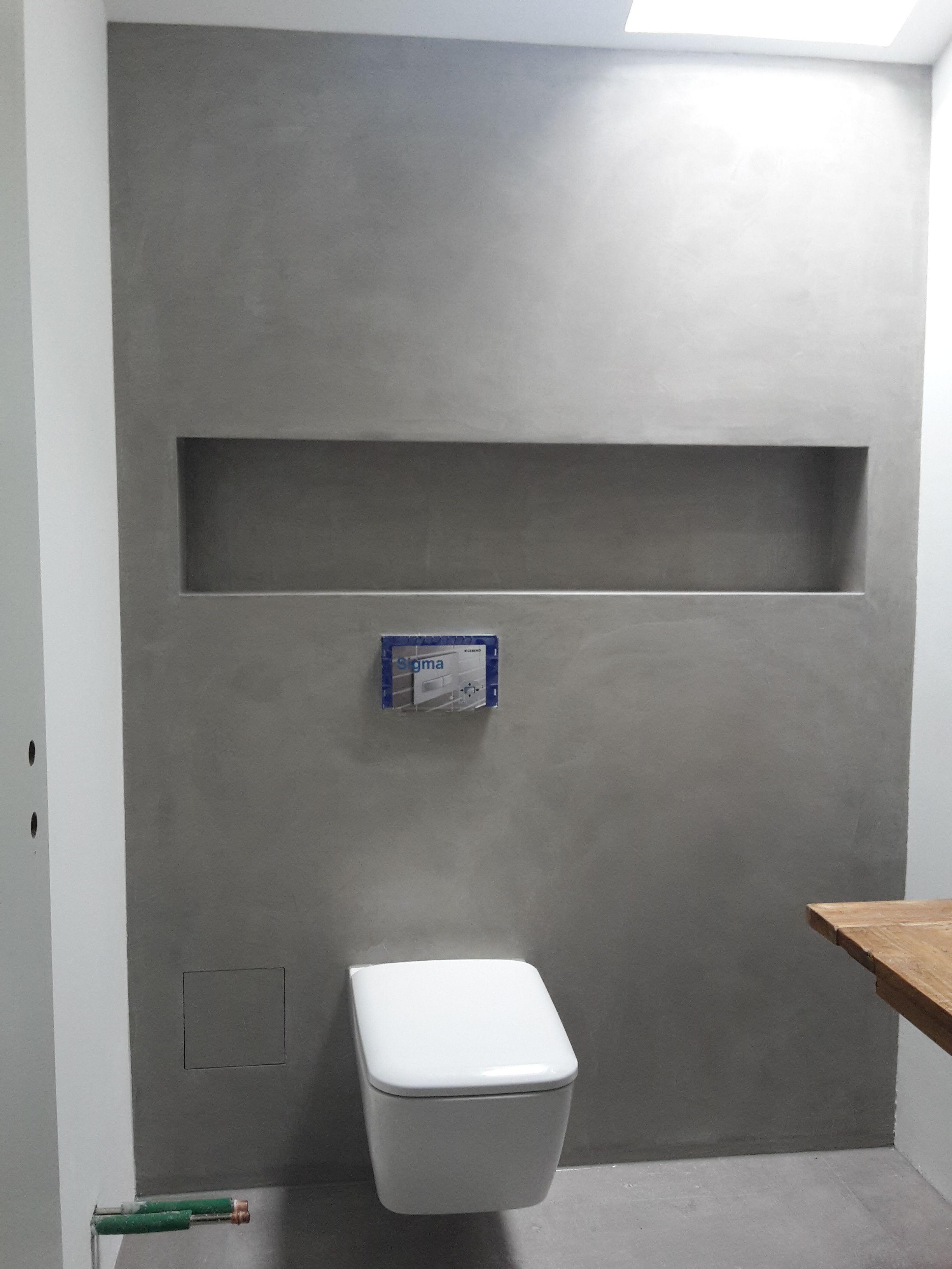Beton Cire auf Rigips Vorbau im Bad | Badezimmer dekor ...