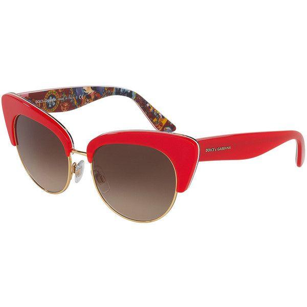 67f60a56b221 Dolce   Gabbana DNA Semi-Rimless Cat-Eye Sunglasses (973.095 COP ...