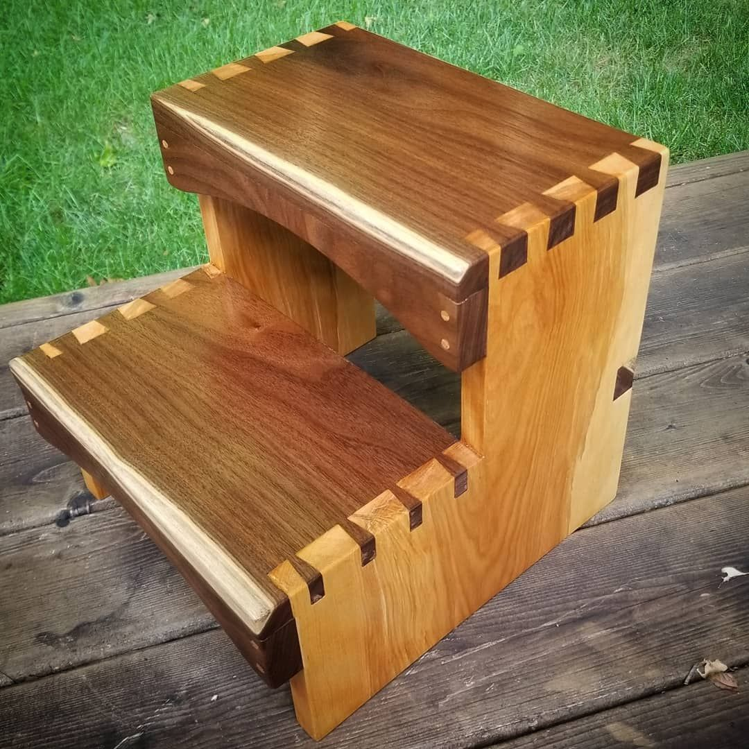 Miraculous Walnut And Birch Step Stool Finished With Arm R Seal My Ibusinesslaw Wood Chair Design Ideas Ibusinesslaworg
