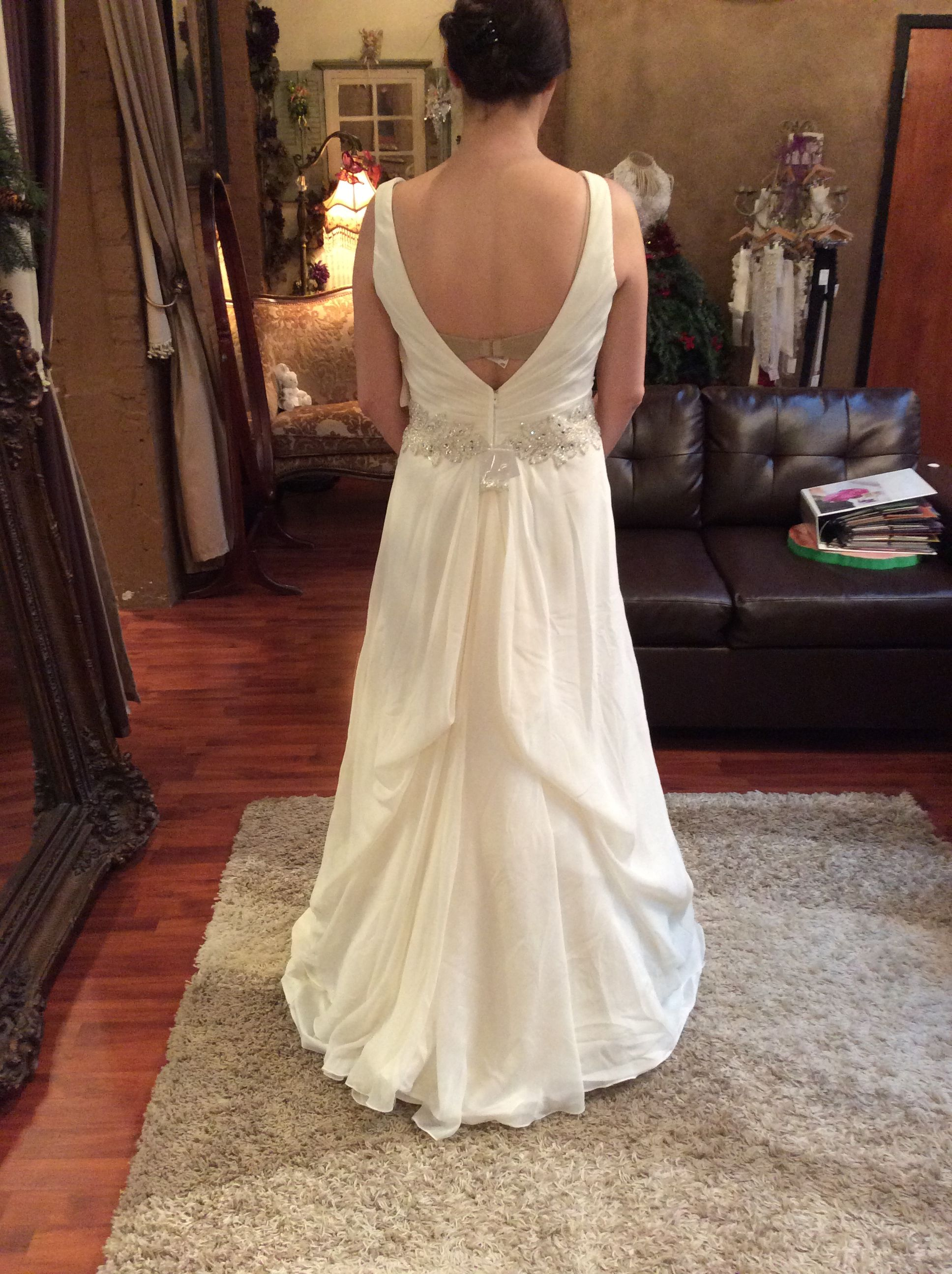 How To Bustle A Wedding Dress 1