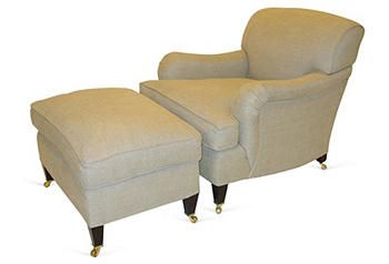 George Smith Chair U0026 Ottoman