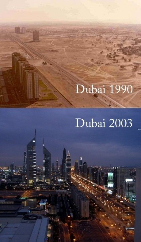 dubai before and after