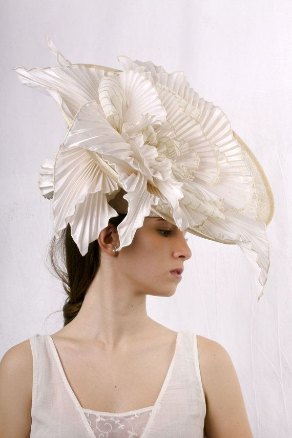 Stunning Wedding hat Gorgeous ivory bridal by IrinaSardarevaHats 4558b036a269