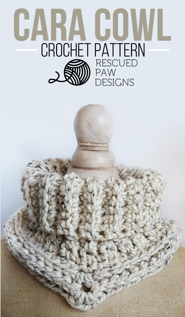 Cara Cowl Crochet Pattern in Spanish - Rescued Paw Designs | Chales ...