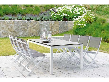 Stern Gartenmöbel Set Joe weiß Tisch Silverstar Tundra braun | Stern ...