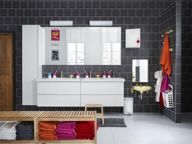 Salle de bain familiale  bien lu0027aménager pour parents et enfants - ikea meuble salle de bain godmorgon