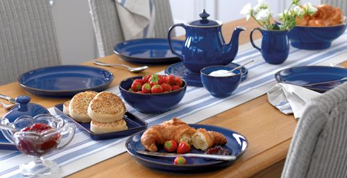 Imperial Blue Kitchen Collection Table Setting Denby