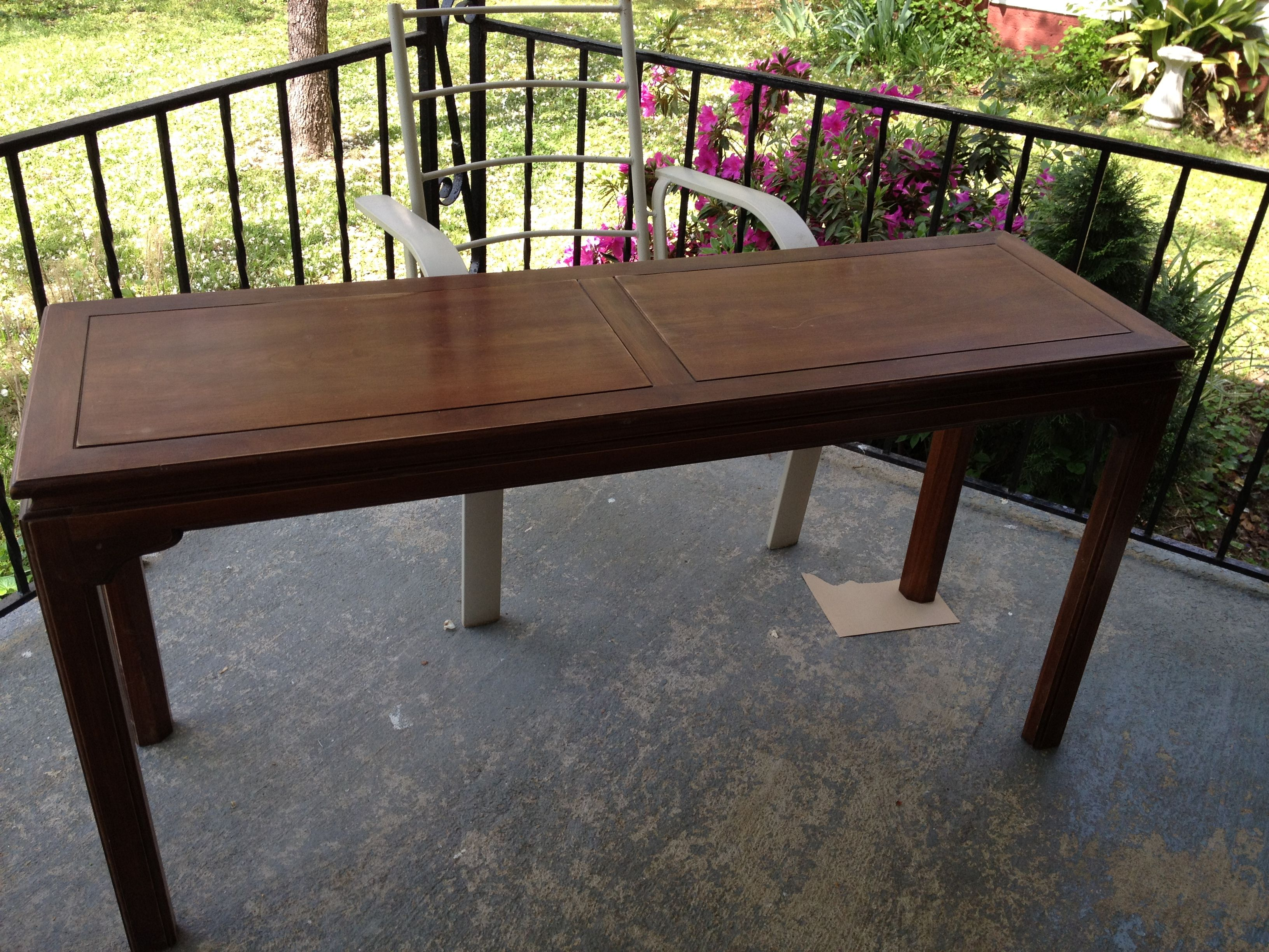 Admirable 10 Yard Sale Ethan Allen Sofa Table Going To Paint It Green Inzonedesignstudio Interior Chair Design Inzonedesignstudiocom