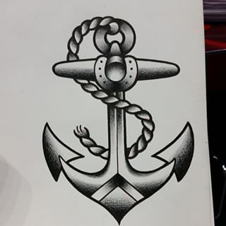 Anchor tattoo traditional buscar con google tatto for American anchor tattoo