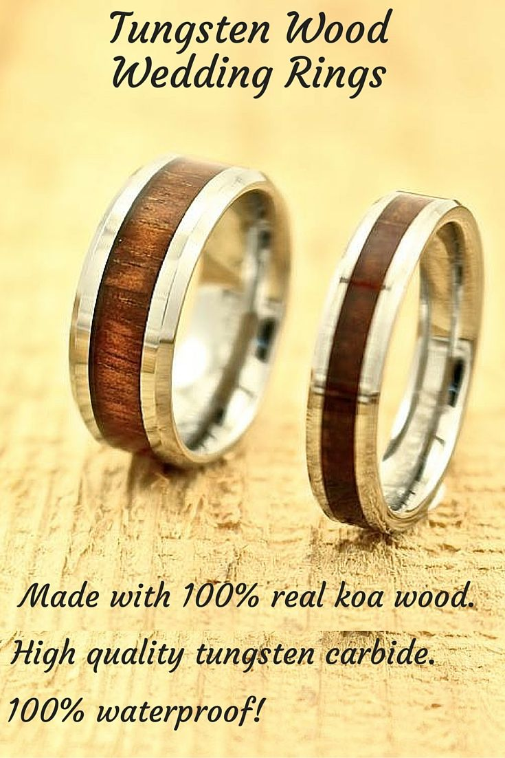 Amazing wood wedding bands for men and women The rings are made out
