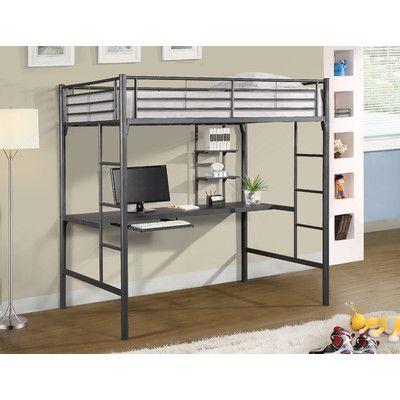 Jose Twin Loft Bed with Workstation   Ventana