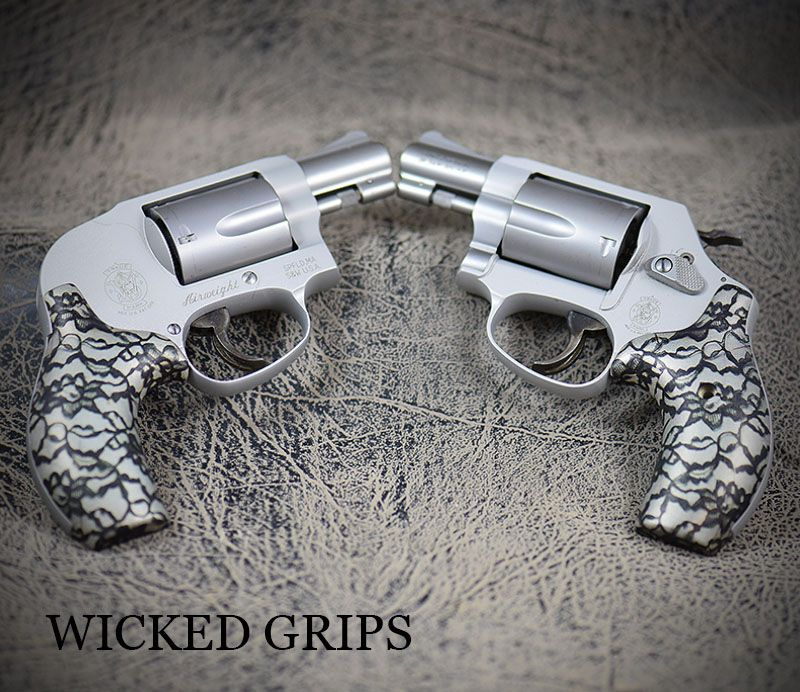 Custom smith & wesson j frame grips black lace 2 | Smith wesson ...