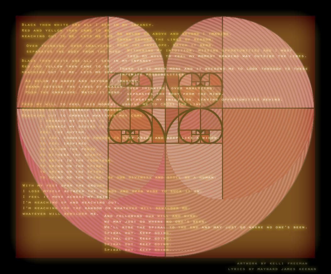 Fibonacci Heart, Lateralus Lyrics, Tool, Maynard James