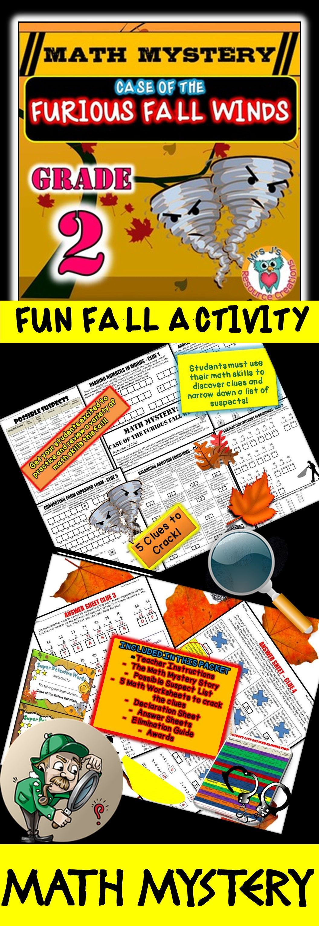 2nd Grade Fall Activity