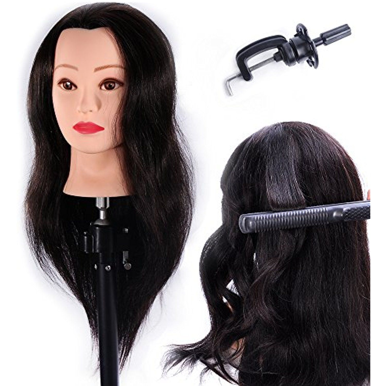 "24"" Mannequin Head 100 Human Hair Hairdresser Training"