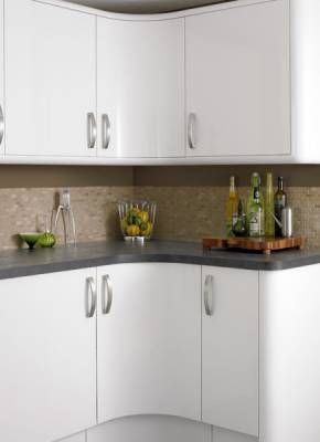Glendevon White Kitchen Design Plans Curved Kitchen Kitchen Design Small