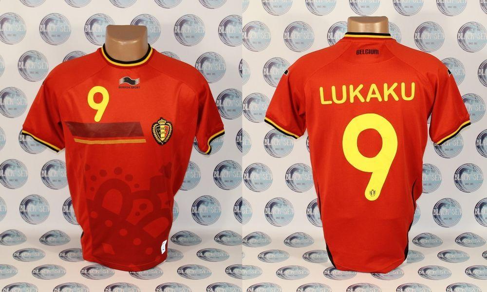 f210393a7 BELGIUM NATIONAL TEAM 2014 2015  9 LUKAKU FOOTBALL SOCCER SHIRT JERSEY  TRIKOT S  BURRDA  Belgium