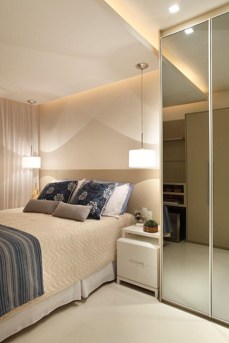 Quarto De Casal ~ 95+ Quartos de casal pequenos e simples decorados Quartos, Bedrooms and Decoration