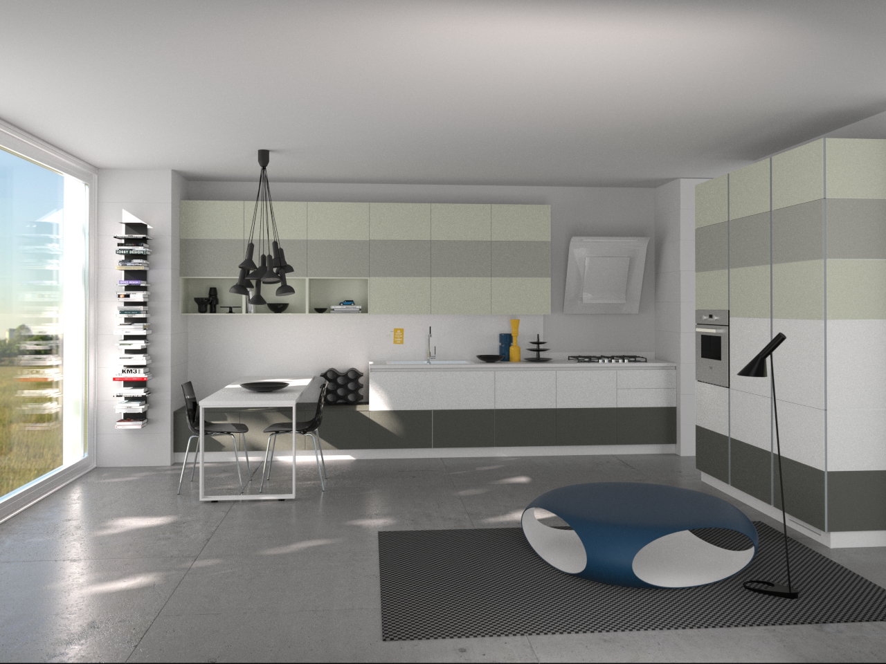 Tetrix by Micheal #Young #Scavolini #kitchen #Livingroom ...