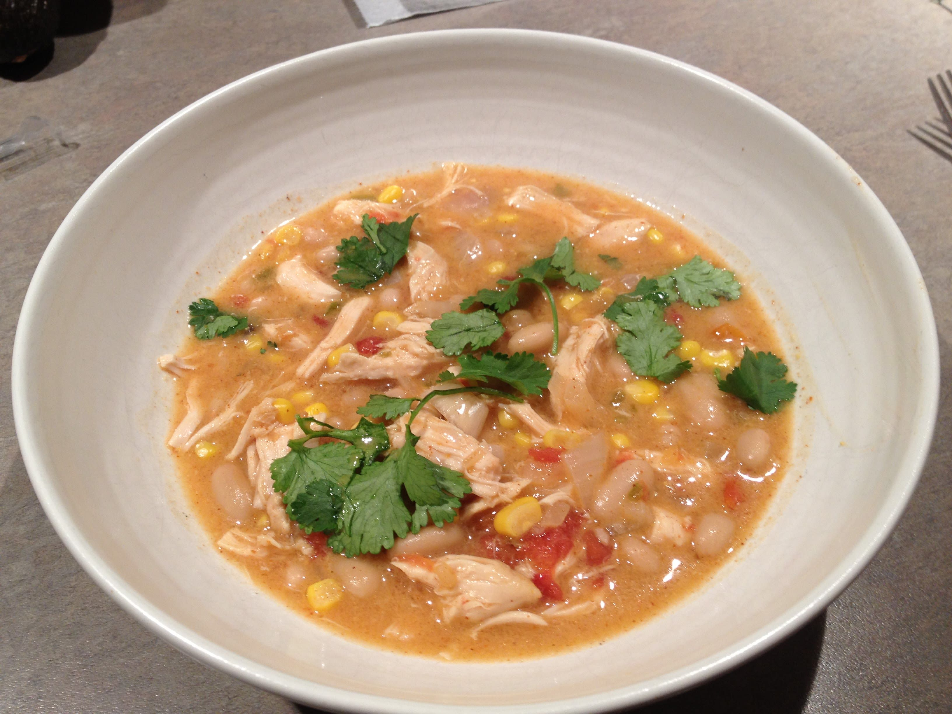 This White Chicken Chili Recipe Is Adapted From A Betty Crocker White Chicken Chili Recipe Crockpot White Chili Chicken Recipe White Chicken Chili Slow Cooker