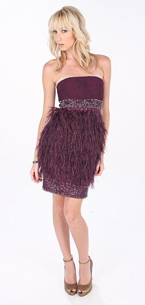 Ostrich Strapless Dress Sue Wong | Homecoming Dresses | Pinterest