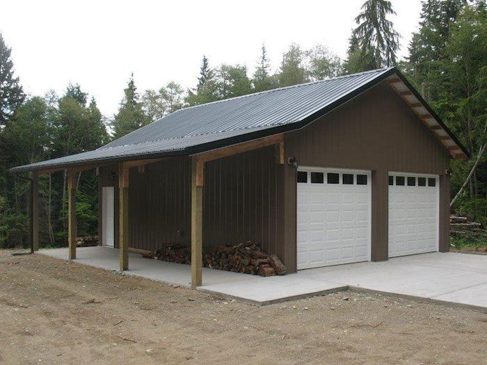 Tow Car Garage Built By Spane Buildings In Skagit County Wa Pole Barn Builders Barn Builders Building A Pole Barn