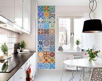Keuken Tegels Portugese : Vloer van handgemaakte portugese tegels in deze prachtige keuken