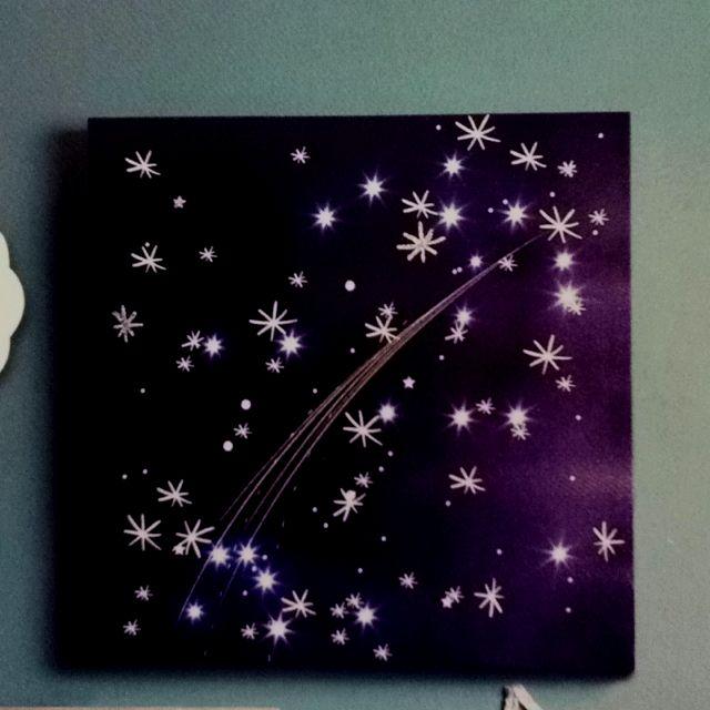 Beleuchteter Sternenhimmel Auf Leinwand Vielleicht Furs Jungszimmer