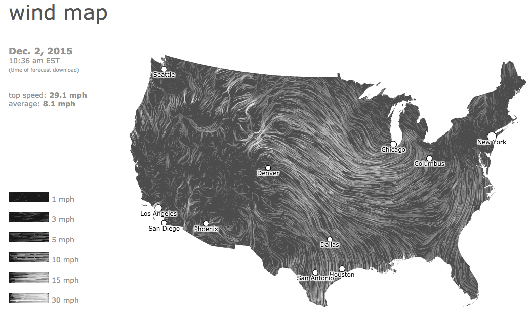 United States Wind Map Png Infographics Data Viz Orthogonal