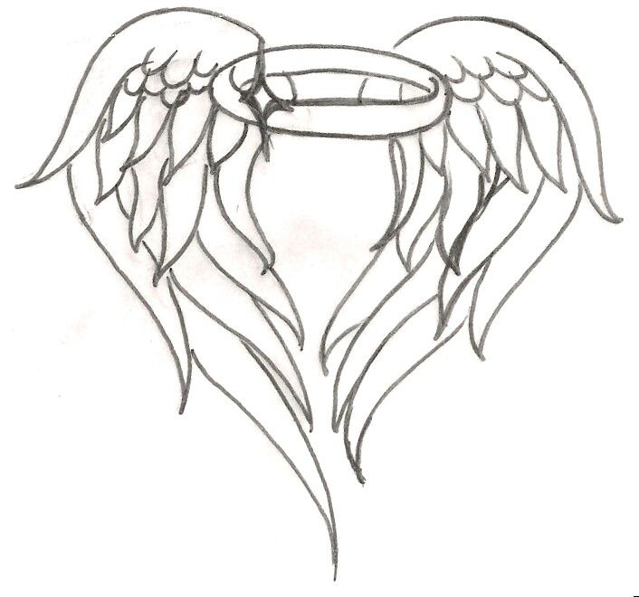 angel wing halo tattoo tattoo ideas pinterest halo tattoo rh pinterest com angel wings with halo tattoo meaning Angel Wing Tattoos with Names