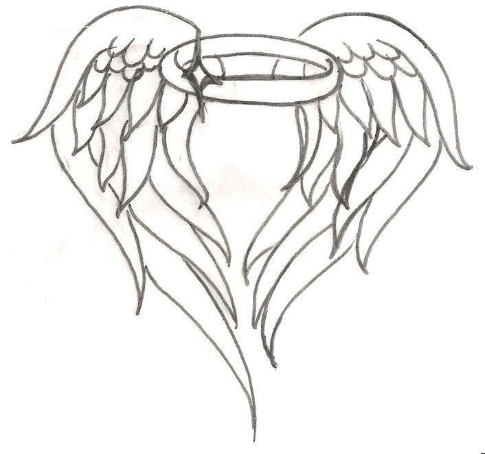 Angel Wing Halo Tattoo Tattoo Ideas Pinterest Tattoos Halo